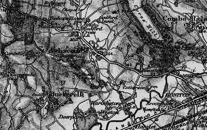 Old map of Awliscombe in 1898