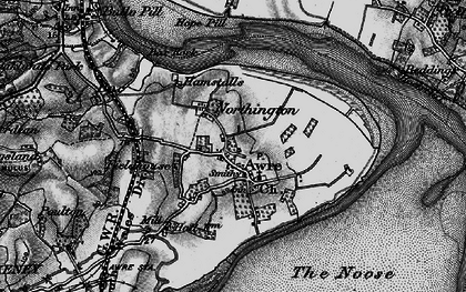 Old map of Awre in 1896