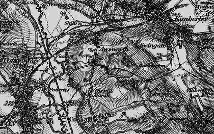 Old map of Awsworth in 1895