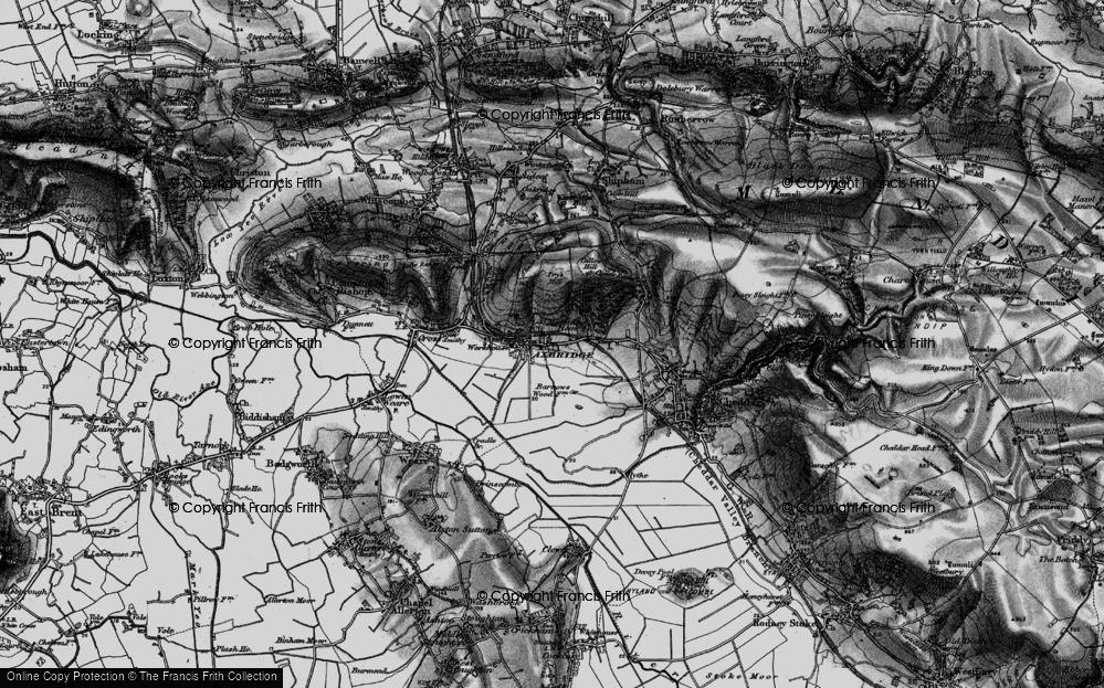 Old Map of Axbridge, 1898 in 1898