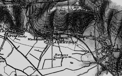 Old map of Axbridge in 1898