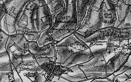 Old map of Axford in 1895