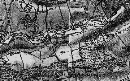 Old map of Axford in 1898