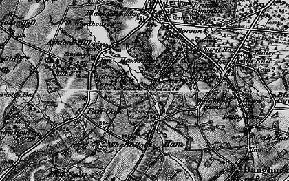 Old map of Axmansford in 1895