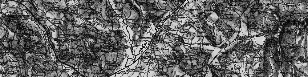 Old map of Axminster in 1898