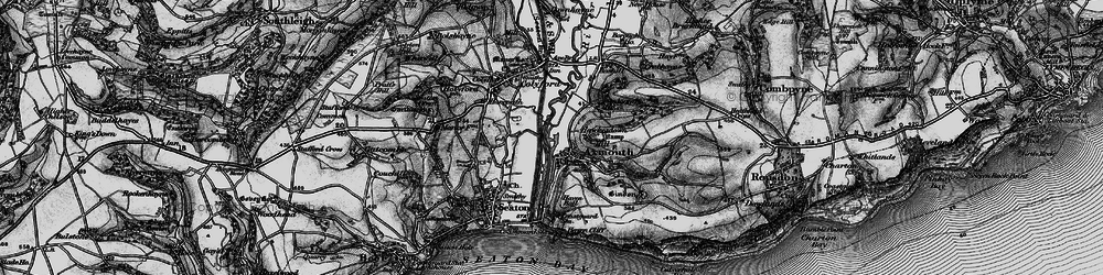 Old map of Axmouth in 1897
