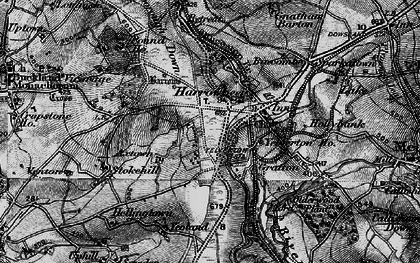 Old map of Axtown in 1898