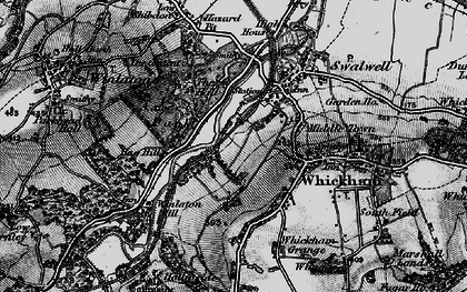 Old map of Axwell Park in 1898