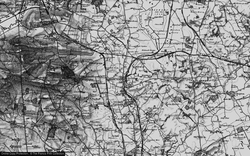 Old Map of Aycliffe Village, 1897 in 1897