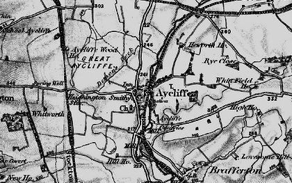 Old map of Aycliffe Village in 1897