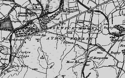 Old map of Banktop in 1897