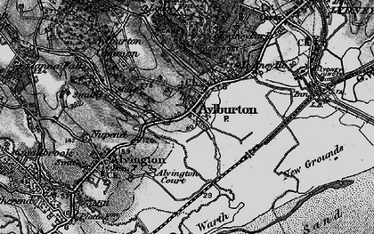 Old map of Aylburton in 1897