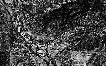 Old map of Ayle in 1897
