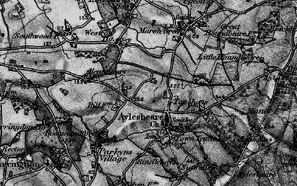 Old map of Aylesbeare in 1898