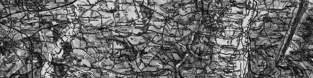 Old map of Aylesbeare in 1898