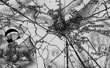 Old map of Aylesbury in 1895