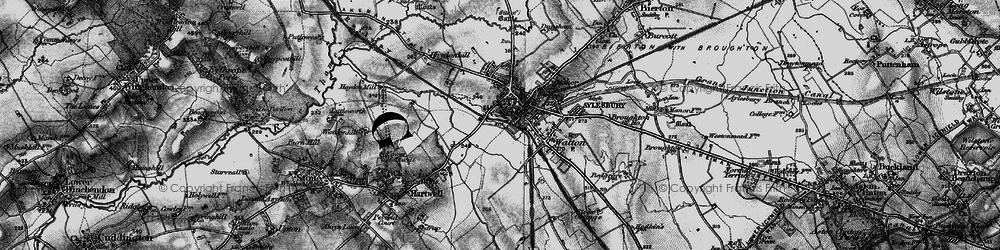 Old map of Aylesbury in 1895