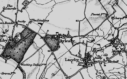 Old map of Aylesby in 1895