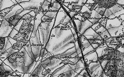 Old map of Aylesham in 1895