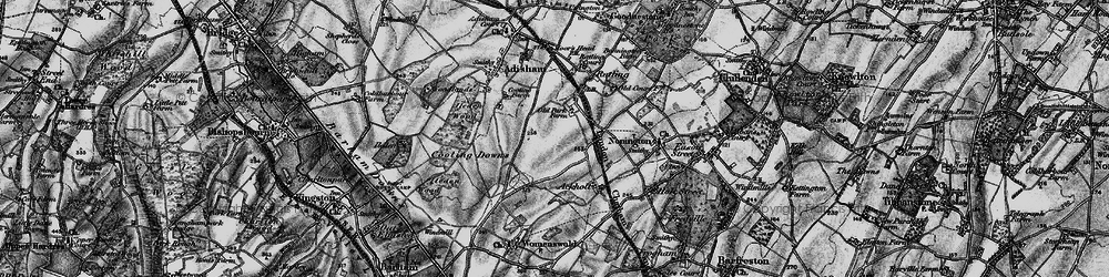 Old map of Aylesham in 1895