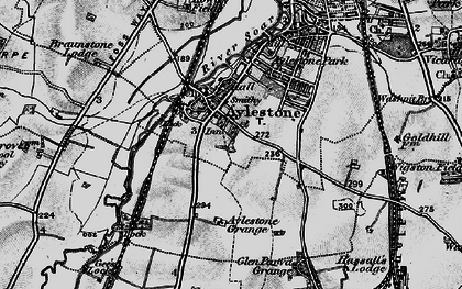 Old map of Aylestone in 1899