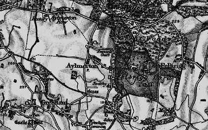 Old map of Aylmerton in 1899