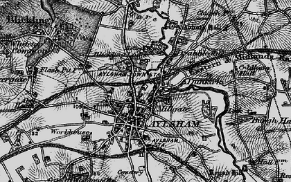 Old map of Aylsham in 1898