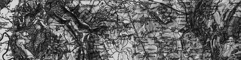Old map of Aylton in 1898
