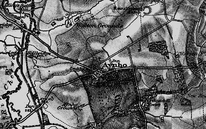Old map of Aynho in 1896