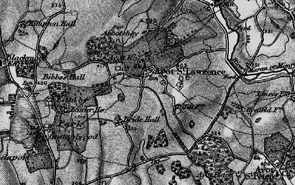 Old map of Ayot St Lawrence in 1896