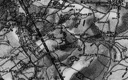 Old map of Ayres End in 1896