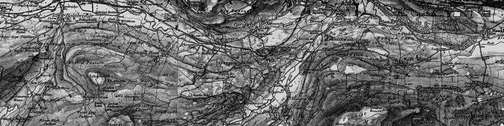 Old map of Aysgarth in 1897