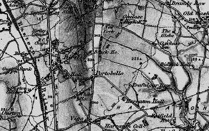 Old map of Ayton in 1898