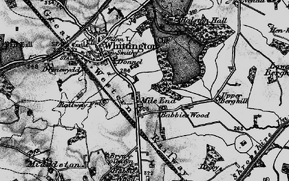Old map of Babbinswood in 1897