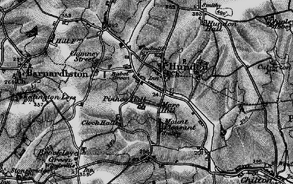 Old map of Babel Green in 1895