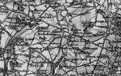Old map of Babell in 1896