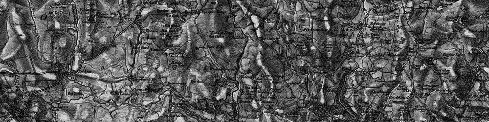 Old map of Yar Tor in 1898