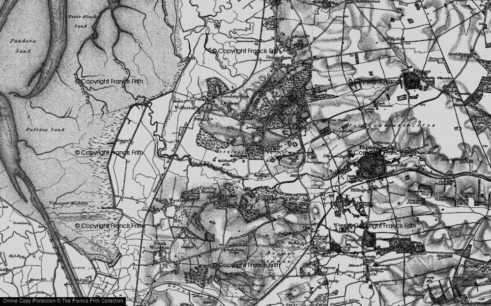 Old Map of Babingley, 1893 in 1893