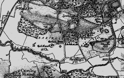 Old map of Babingley River in 1893
