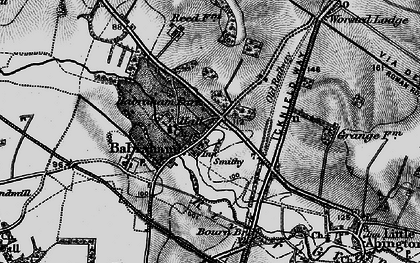 Old map of Babraham in 1895