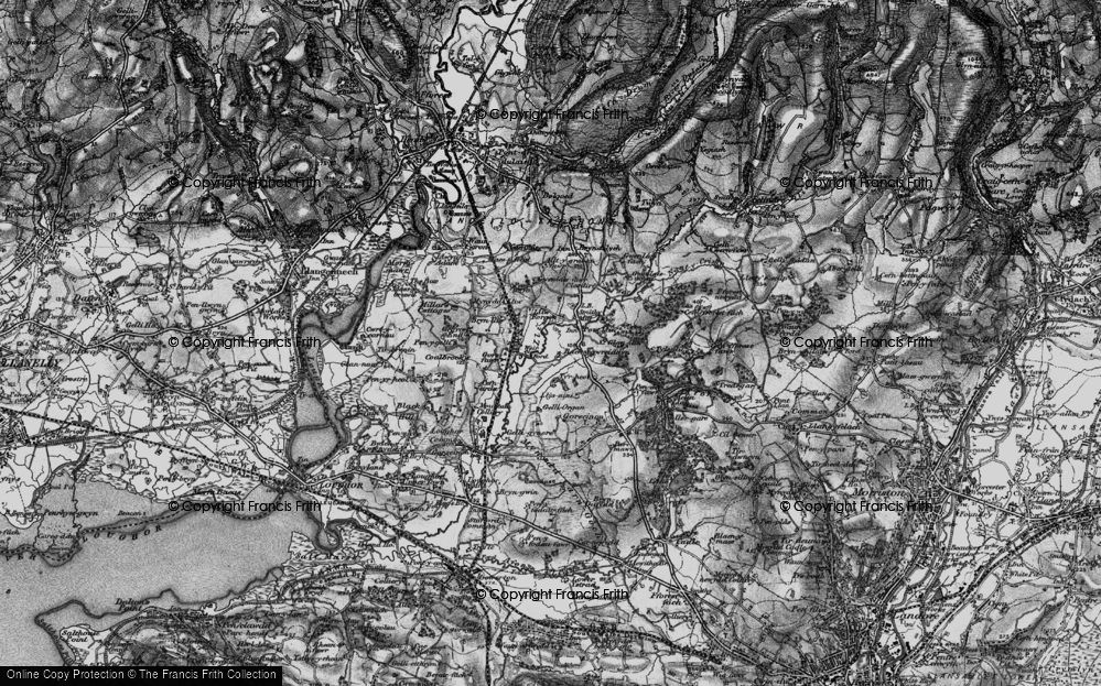 Old Map of Historic Map covering Tircoed in 1897