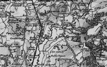 Old map of Bach-y-gwreiddyn in 1897