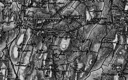 Old map of Bachau in 1899