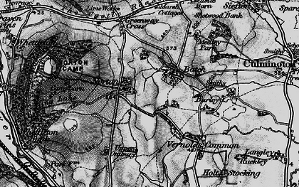 Old map of Bache in 1899