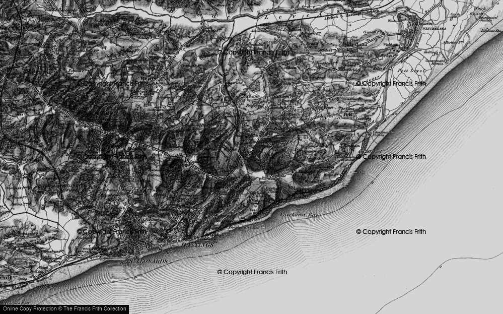 Old Map of Bachelor's Bump, 1895 in 1895