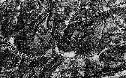 Old map of Bachelor's Bump in 1895