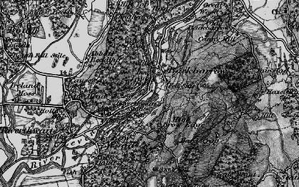 Old map of Backbarrow in 1898