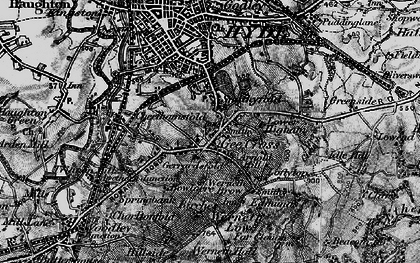 Old map of Backbower in 1896