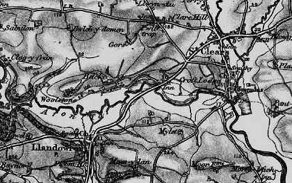 Old map of Backe in 1898
