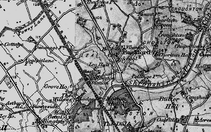 Old map of Backford in 1896